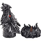 Magical Fire Breathing Dragon Head Incense Burner Holder for Scented Cones in Mythical Statues & Sculptures As Gothic Style Medieval Home Decor for Aromatherapy or Fantasy Gifts