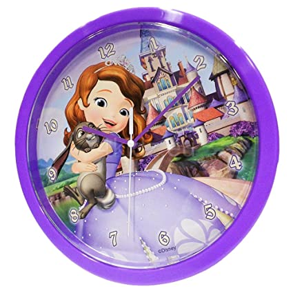 Sofia The First Wall Clock 25cm Printed Gift Box Kids Disney Princess Home Decor