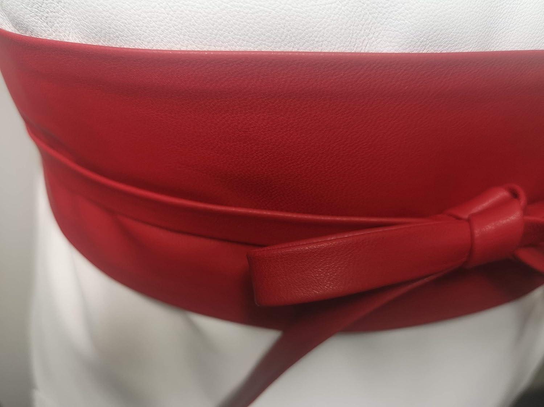 "Plus Size VIKTOR SABO Handmade OBI Black Leather For Waistline Up To 65/""//165 cm"
