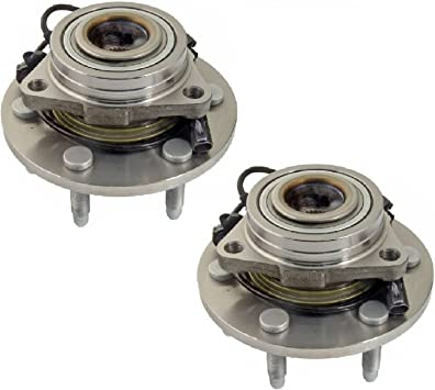 PAIR FRONT WHEEL BEARING /& HUB ASSEMBLY FORD F150 2009 2010 4X4 4WD 6 STUDS