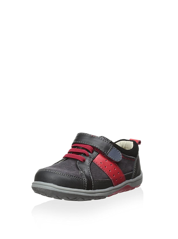 13 Black See Kai Run Boys Macadam Contrast Stripe Suede Sneakers