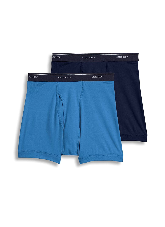 2 Pack Jockey Mens Underwear Big Man Classic Boxer Brief