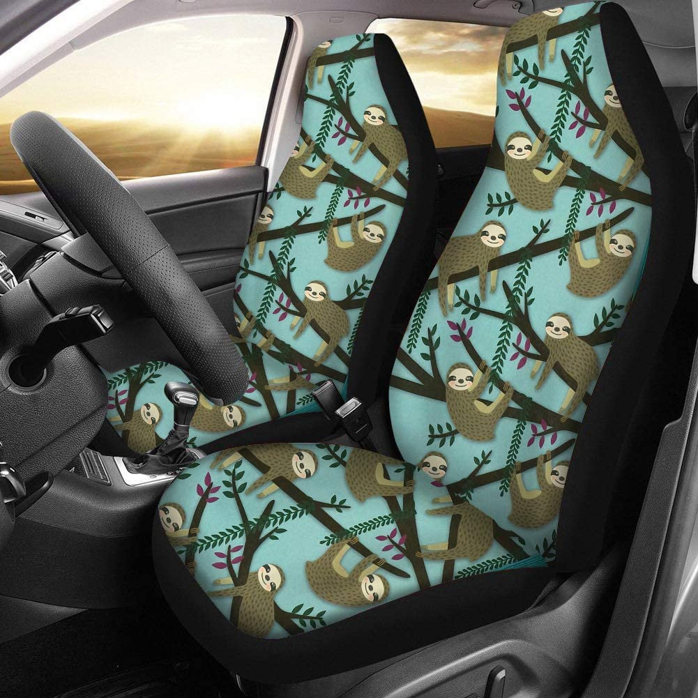 NDISTIN Cool Color Saddle Blanket Car Seat Covers for Front Seat Protector Cover for Women Girls Case 2pc Set Tie Dye Design Universal Fit for Car Truck or SUVs