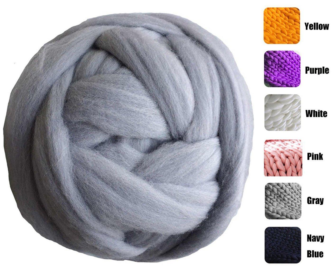 amazon com welltree merino soft chunky blended wool yarn for arm