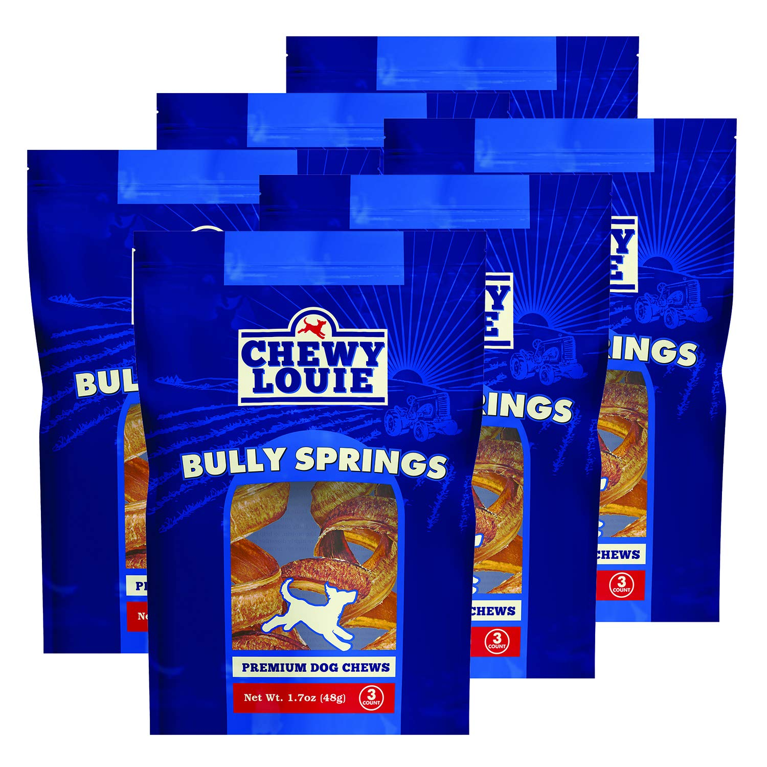 CHEWY LOUIE Bully Treats 3pk – 100 Beef Treat, No Artificial Preservatives, Colors, or Flavors. Tough, Long-Lasting, and Dental Support Dog Treats.