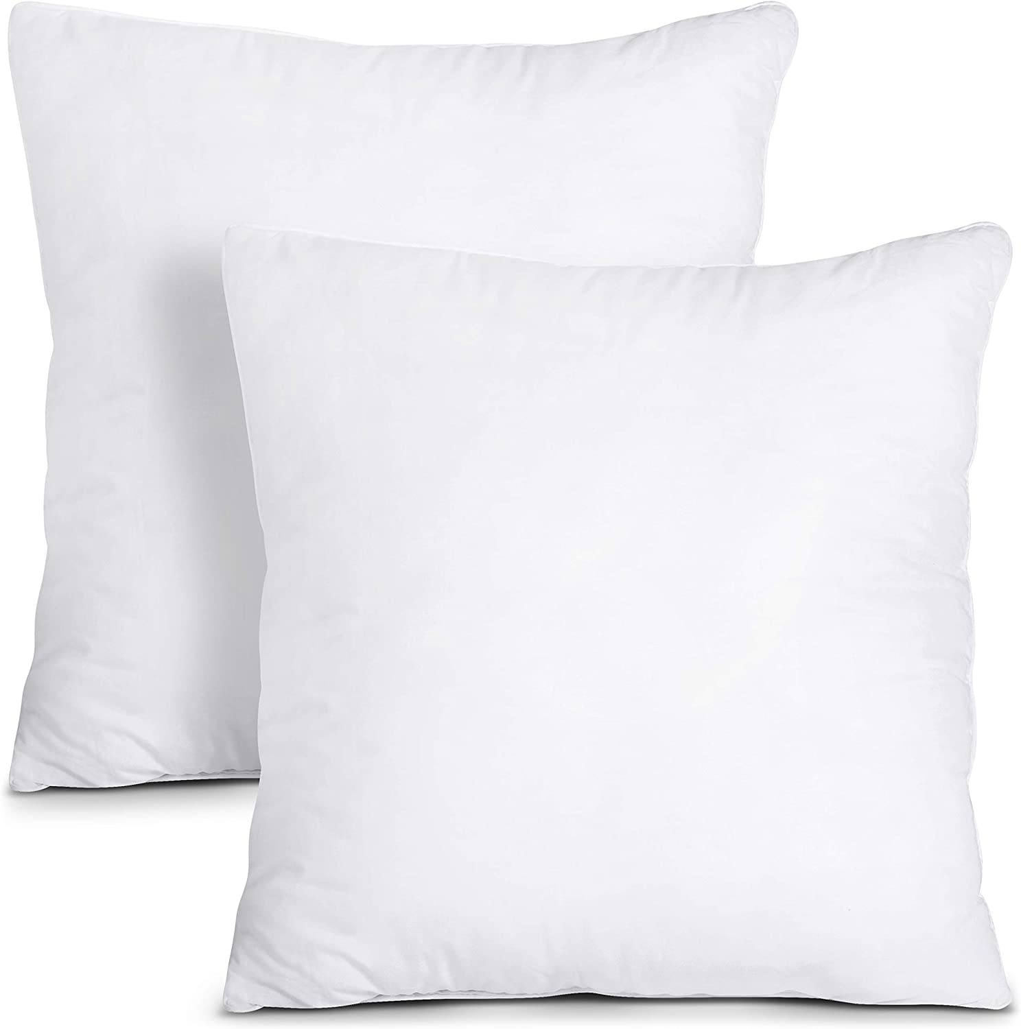 Utopia Bedding Throw Pillows Insert (Pack of 2, White) - 24 x 24 Inches Bed and Couch Pillows - Indoor Decorative Pillows