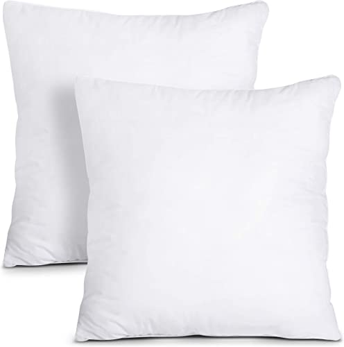 Utopia Bedding Throw Pillows Insert Pack of 2, White – 28 x 28 Inches Bed and Couch Pillows – Indoor Decorative Pillows