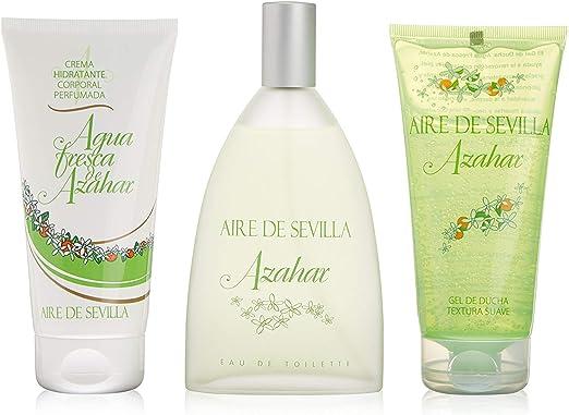 Aire de Sevilla Set de Belleza Edición Azahar - Crema Hidratante Corporal, Eau de Toilette, Gel Exfoliante: Amazon.es: Belleza
