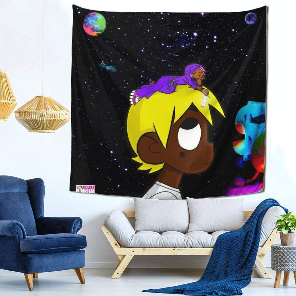 Print Gift Lil-Uzi vert Vs The World Album Tapestry Cover Canvas Poster Home Decor Modern Idea 59×59 Inch