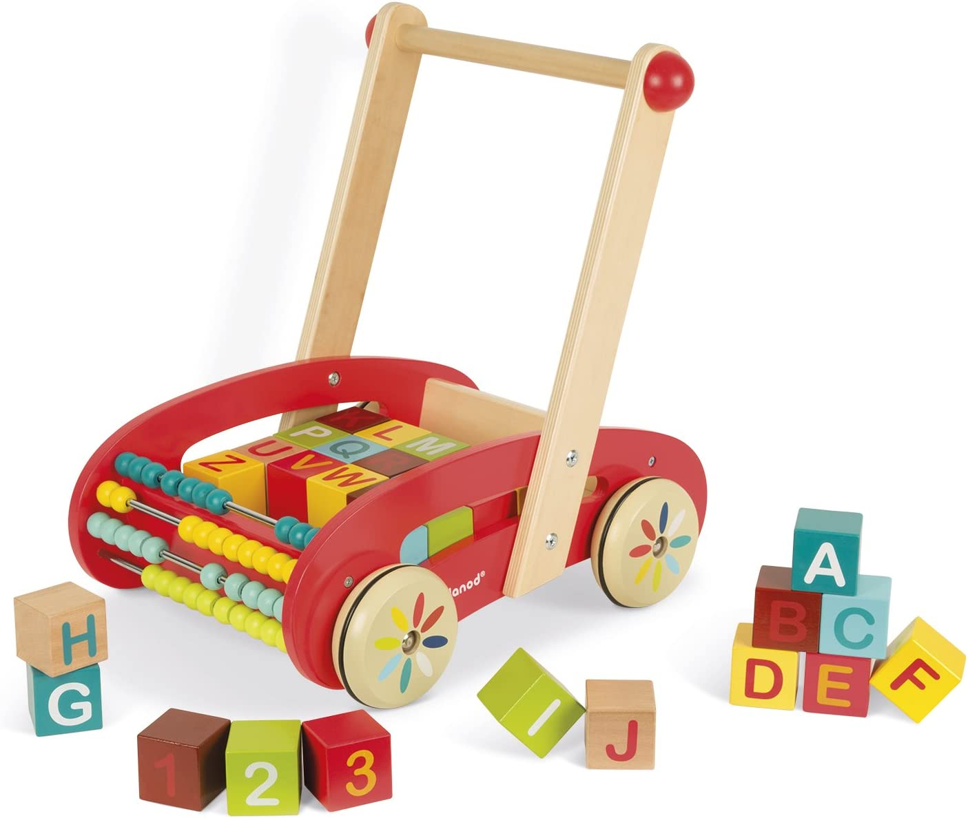 Janod ABC Walking Trolley with Blocks