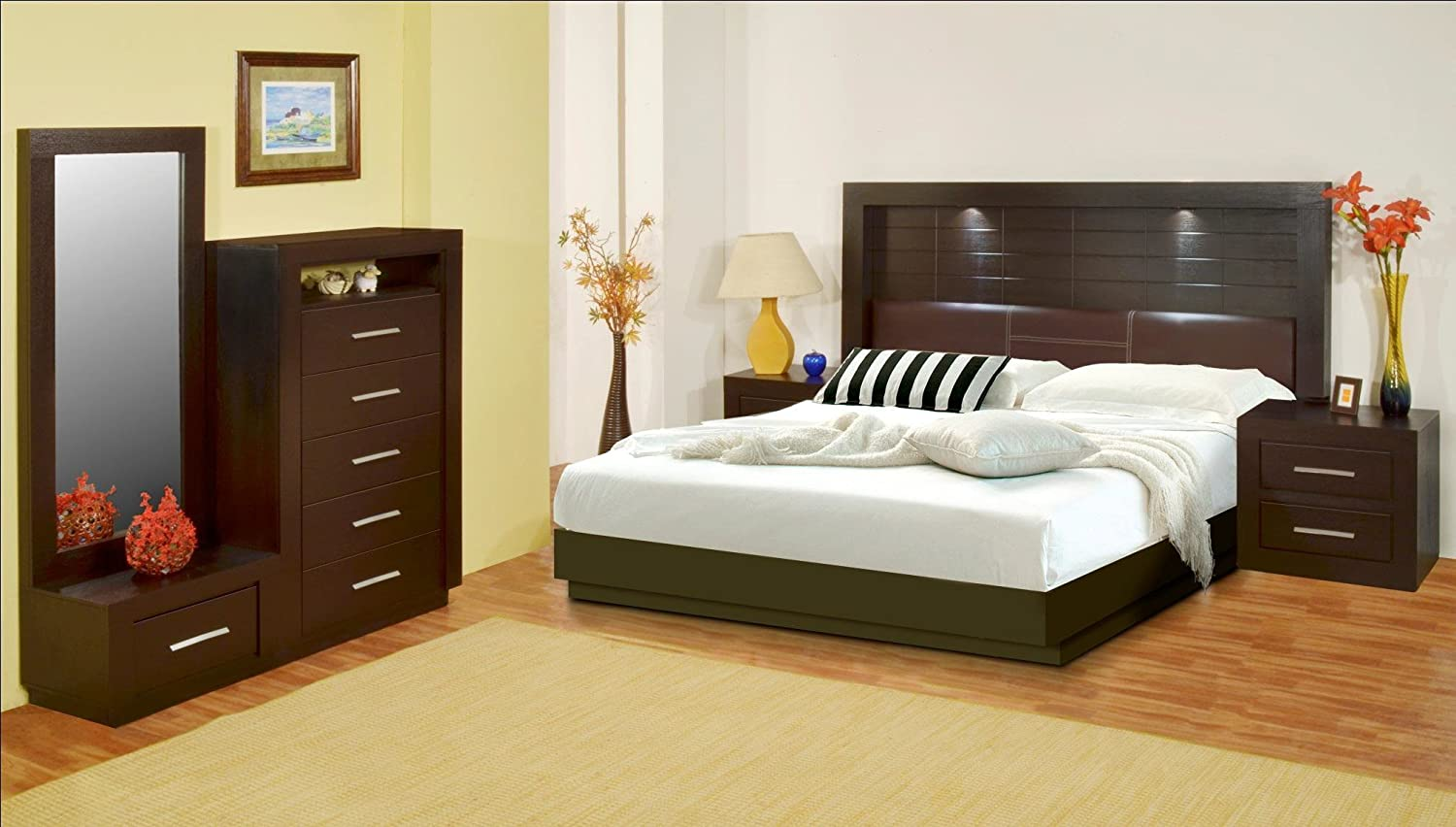 Recamara Modelo Maya King Size Chocolate Amazon Com Mx Hogar Y  # Muebles Medicos Maya