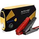 AUTO-VOX Portable Car Battery Booster Jump starter 14000mAh 500A Peak (Up to 5L Gas and 2L Diesel Engine) Emergency Kit Booster Power Pack with Compass LED Lights & Multiple Slots…