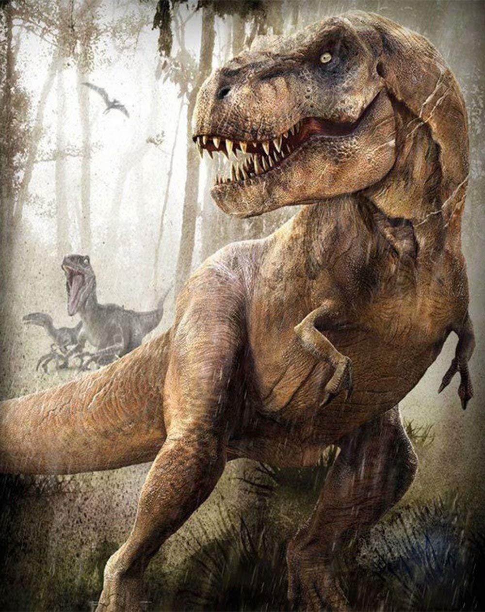 5D Pintura por Diamantes (ITM26793) dinosaurio