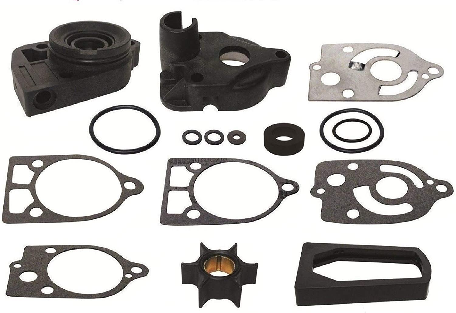 GLM Water Pump Impeller Kit for Mercury 30 35 40 45 50 60 65 70 Hp Replaces 46-77177A3, 18-3324 Read Product Description for Exact Applications
