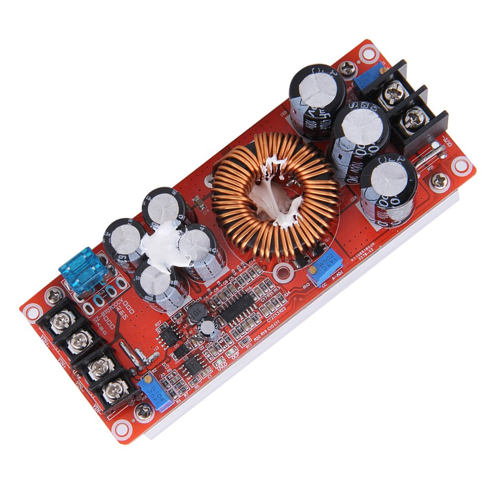 Alloet 1200W DC-DC Boost Power Converter Adjustable Step Up Voltage Regulator Board Input Voltage 8-60V Max Output Voltage 12-80V with Large Heat Sink Design by Alloet