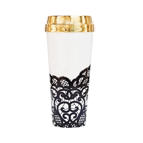 amazon com black lace travel mug gold mug gift for boss gift for