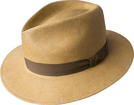 e833987c36a Bailey Hats Pencer Teardrop Straw Fedora Hat - Sand X-Large: Amazon ...