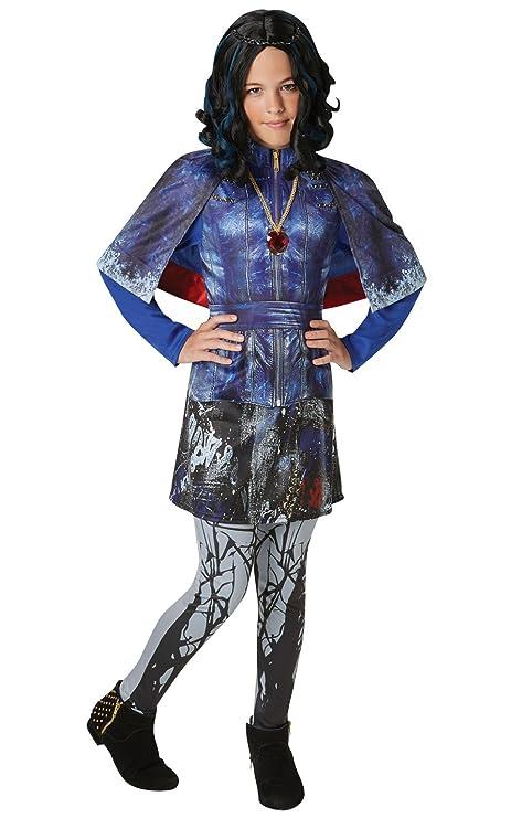 Disney Descendants- Disfraz de lujo, Evie, Azul (Blue Print), Extra