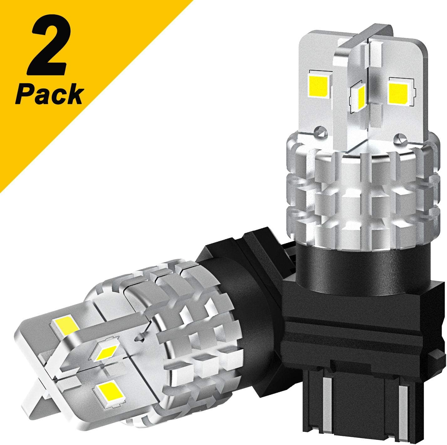 AUXITO-3157-LED-Bulbs White Super Bright 3156 3056 3057 4157 Back Up Reverse Light LED Bulbs 360 Degree Lighting 3030SMD Turn Signal Light Brake Tail DRL Parking Light 2 Pack