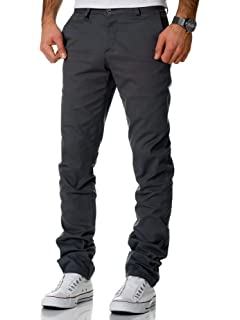 fac5ba6ba3ef8b STALLION LONDON Herren Chino Hose Skinny - Slim Fit Stretch ...