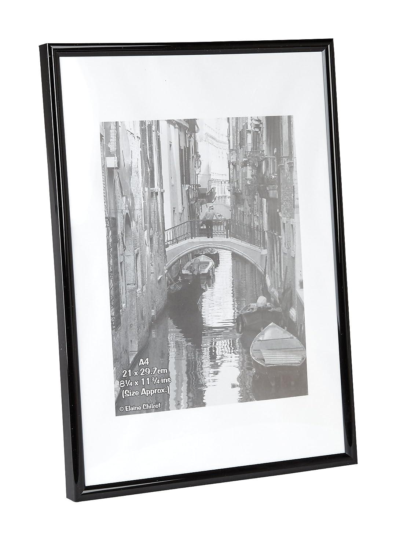 The Photo Album Company 21 x 30 cm A4 Photo Frame - Black: Amazon.co ...