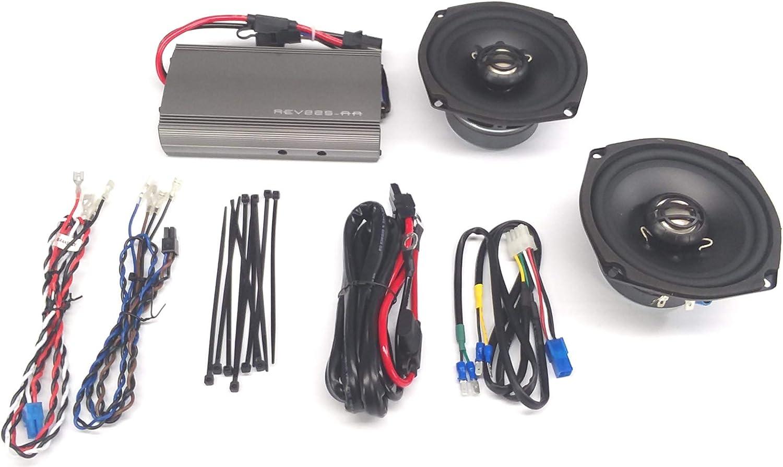 Speaker and Amp Kit 98-13 FLTR//X Hogtunes REV 225 SG Kit-AA Frt