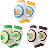 Ava & Kings Baby Knee Pads for Crawling - Babies Stuffs Gift Ideas for Infants - Protect Elbows and Legs w/ Breathable Warmer Cotton and Anti-Slip Elastic - Unisex For Boys & Girls - Set of 3