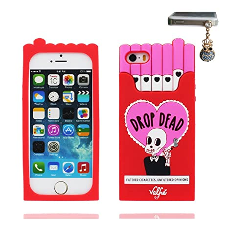 Carcasa iPhone 5, iPhone 5S Case TPU 3D Cartoon Cigarette ...