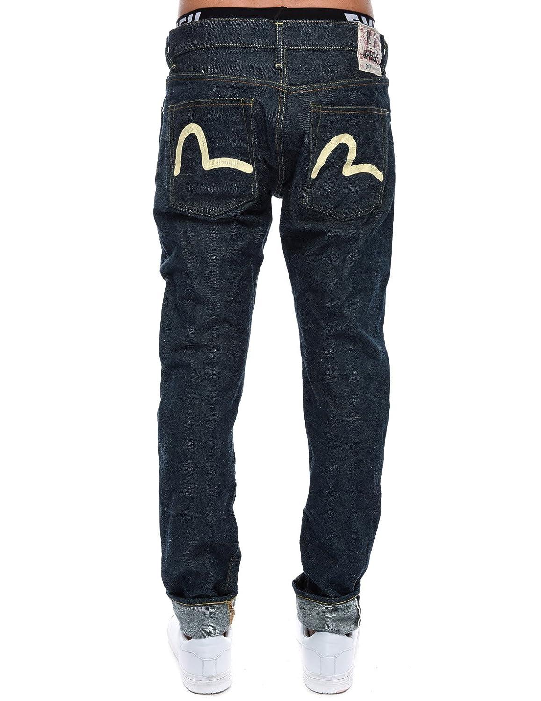 2017 Carrot Fit Ecru Hand Paint Seagull Selvedge Denim Jeans