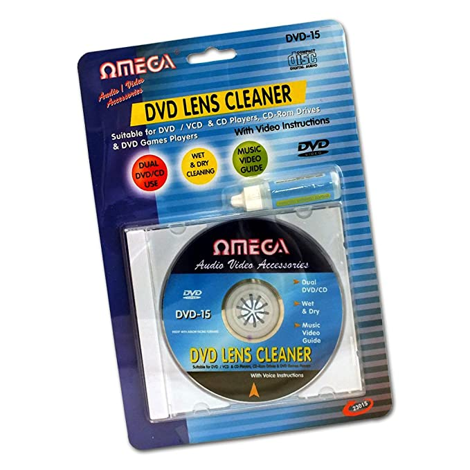 Omega Lens Cleaning Kit for DVD, CD, VCD and Blu Ray: Amazon.co.uk ...