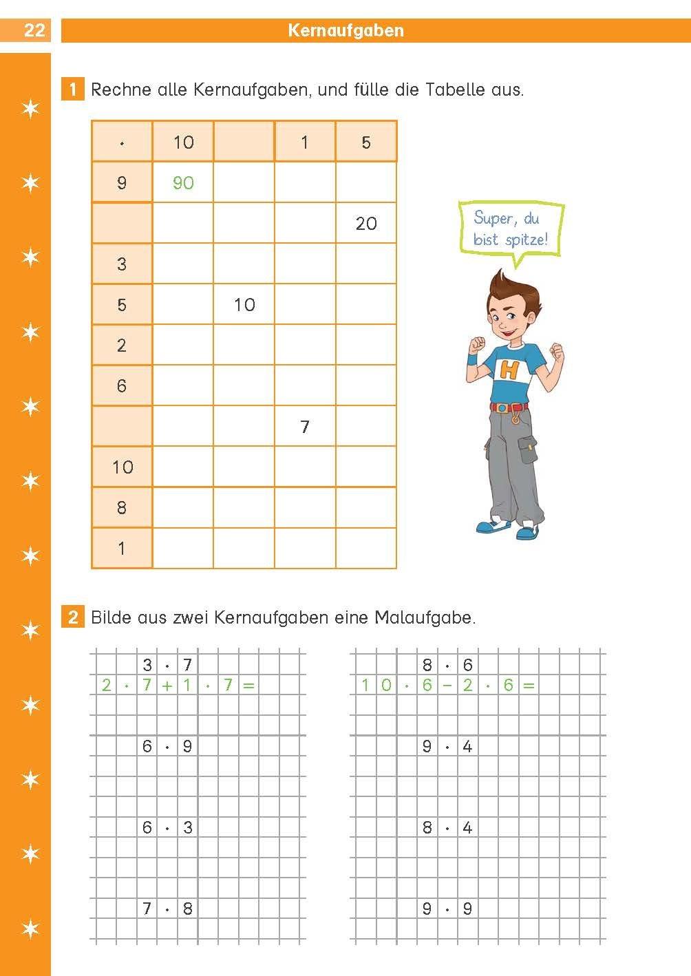 Klett Die Mathe-Helden Das kleine Einmaleins 2./3. Klasse ...