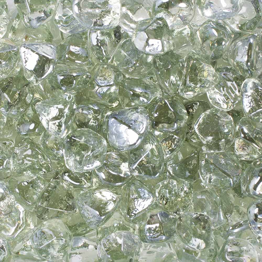 Celestial Fire Glass Diamonds - Clear Luster | 10 Pound Jar
