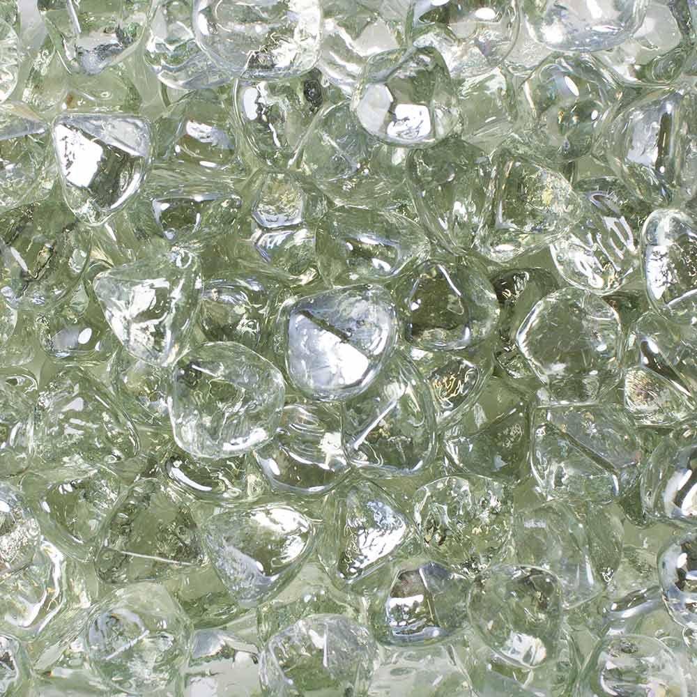 Celestial Fire Glass Diamonds - Clear Luster | 10 Pound Jar