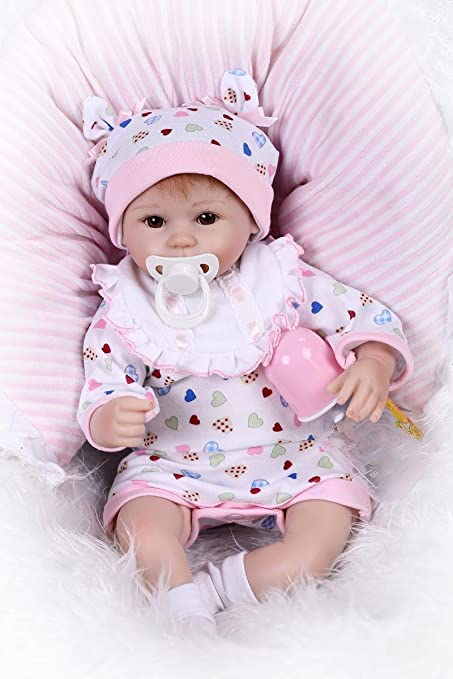 77da1f2a03ba Image Unavailable. Image not available for. Color  NPK Soft Vinyl Silicone  Realistic Reborn Baby Dolls Real Life Like 17 quot  43CM Newborn