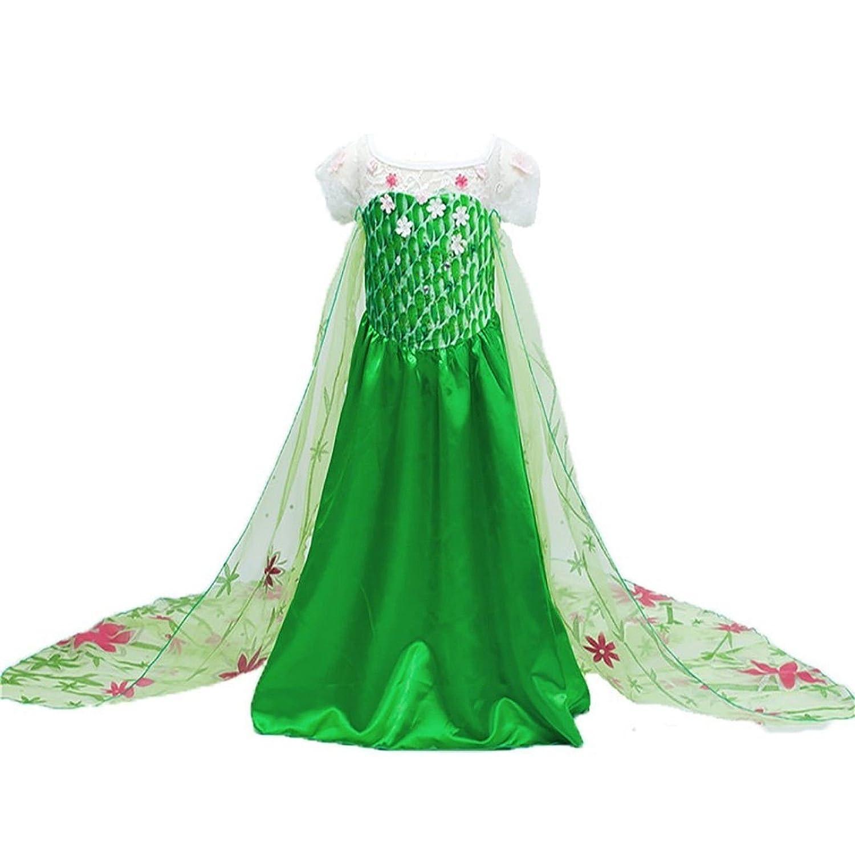 Disfraz de la Princesa ELSA ANNA de Frozen Vestido Niña (Talla 110 (4-5 años)): Amazon.es: Juguetes y juegos