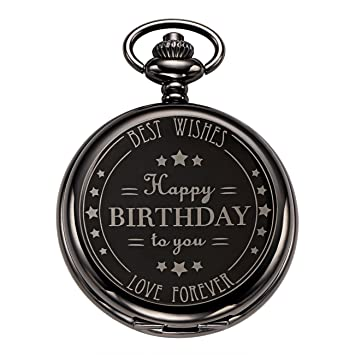 Weipeng Happy Birthday Gift Pocket Chain Watch Mechanical Skeleton