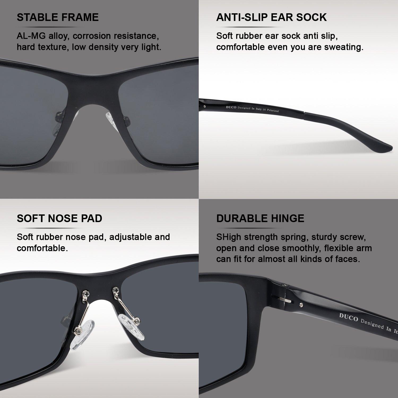 d6641cbb8cb Amazon.com  Duco Men s Driving Sunglasses Polarized Glasses Sports Eyewear  Fishing Golf Goggles 8202  Clothing