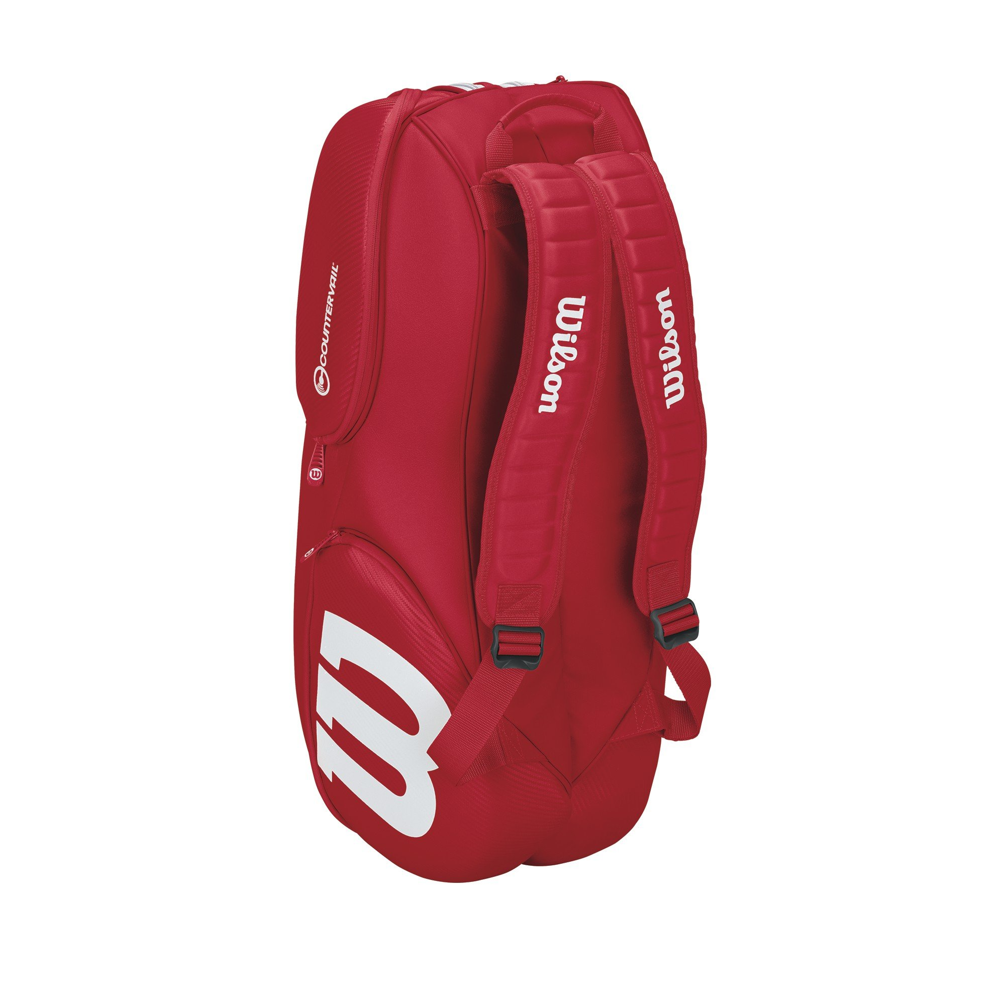 Wilson Pro Staff Tennis Bag - Red /White,9 Pack by Wilson (Image #3)