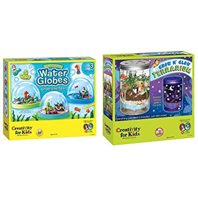 Creativity for Kids Make Your Own Water Globes - Under The Sea Snow Globes & for Kids Grow 'N Glow Terrarium Science Kits for Kids - Create Your Own Mini Ecosystem, Educational Toys: Toys & Games