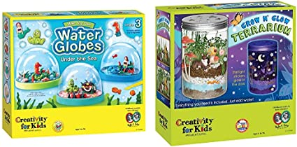 Creativity For Kids Grow N Glow Terrarium Science Kits for Kids Create Your Own Mini Ecosystem Educational Toys