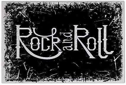 Piastrella proverbi rock and roll ceramica stampato cm