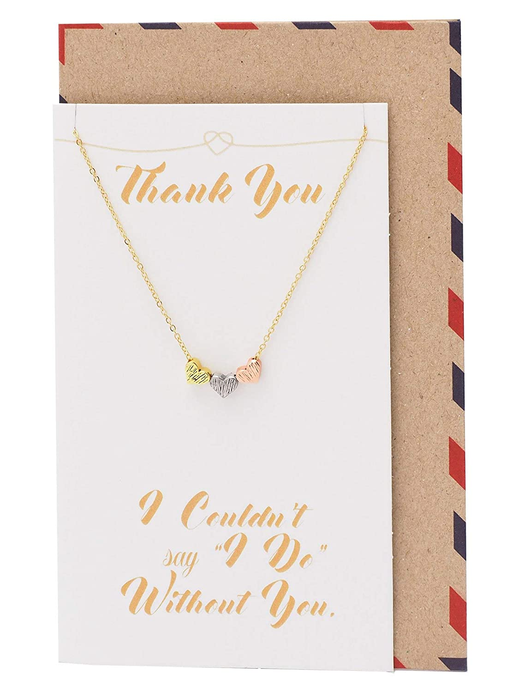 Amazon.com: Quan Jewelry Triple Heart Pendant Necklaces for ...
