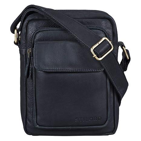7a86d2e18af6 STILORD 'Jannis' Messenger Bag Men Leather Small Shoulder Bag Crossbody Bag  for Boys Vintage