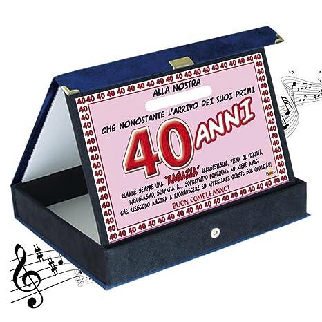 Targa premio compleanno sonora 40 anni amica| Articolo, idee