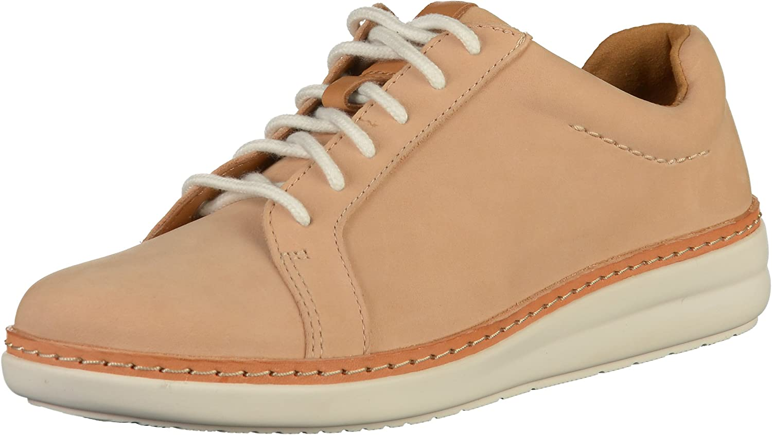 Hobart subterraneo Indiferencia  Clarks Women's Amberlee Rosa Low-Top Sneakers: Amazon.co.uk: Shoes & Bags