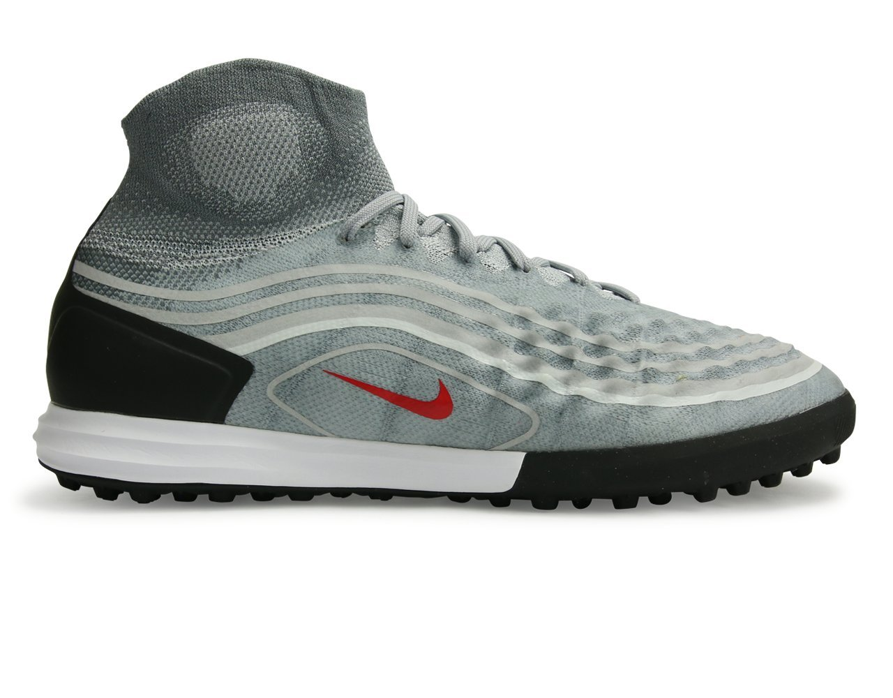 NIKE Mens Magistax Proximo II IC Lunarlon Non Marking Soccer Shoes B071S2WVHL 12 N US|Cool Grey/Varsity Red/Black