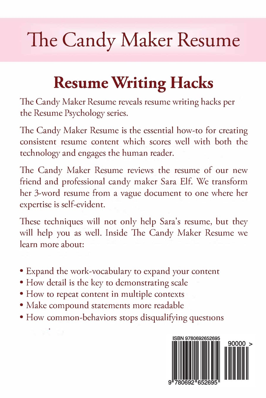 the candy maker resume resume writing hacks resume psychology