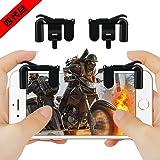PUBG Mobile射撃ボタン 荒野行動対応射撃ボタン スマホホルダー機能付き 押しボタン 感応射撃ボタン感度高く 高速射撃 優れたゲーム体験を実現 2018年最新改良版 iPhone/Android 各種ゲーム対応可能
