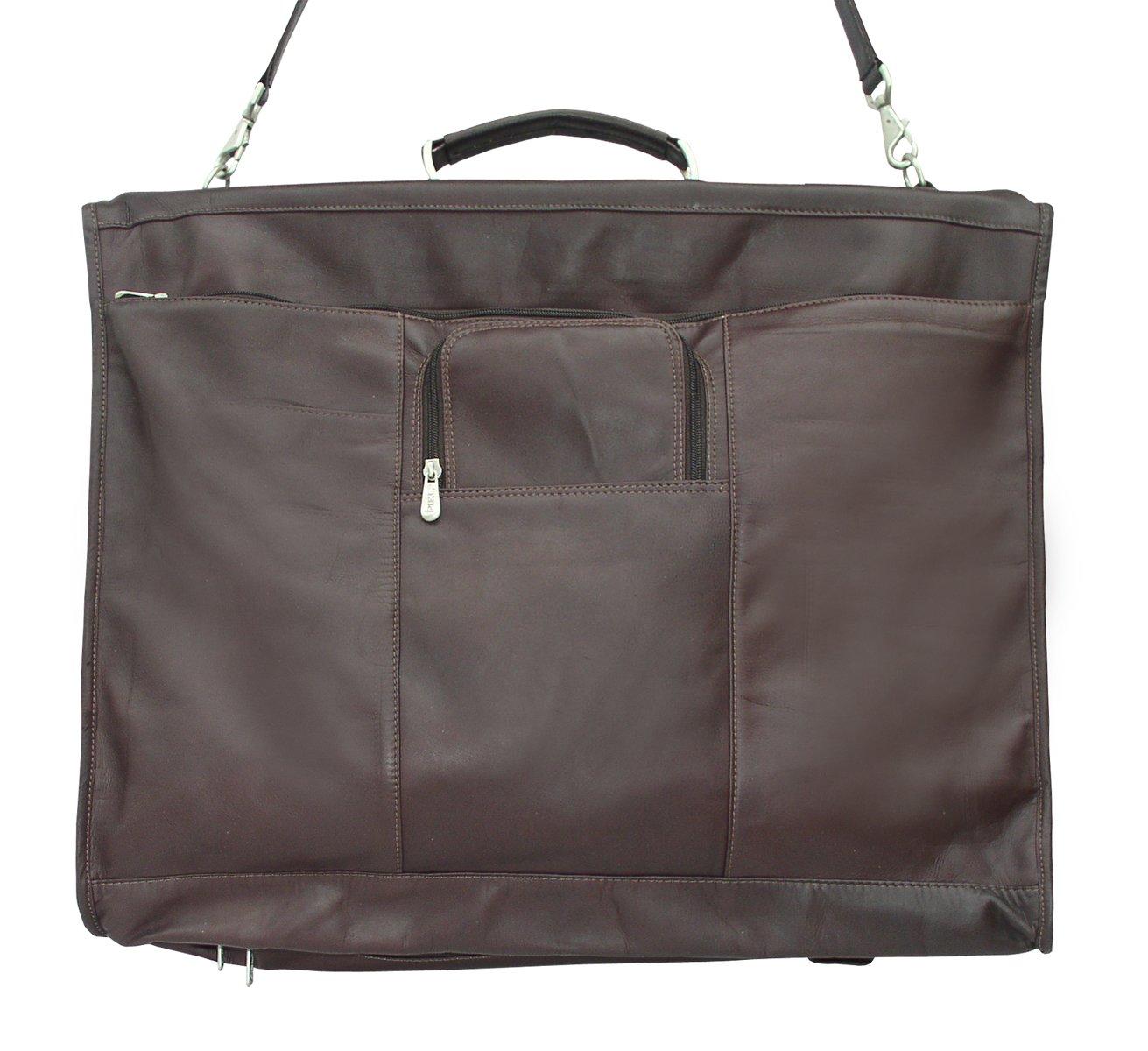 Piel Leather Traveler 40'' Elite Garment Carrie in Chocolate