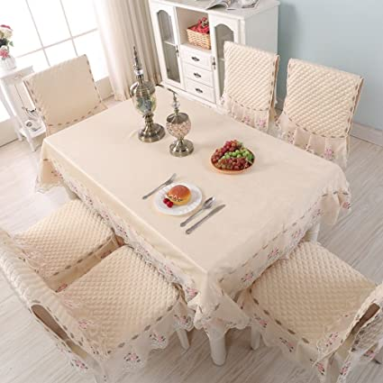 Magnificent Wan San Qian European Style Table Cloth Chair Covers Cushions Set Thickened Cloth Lace Table Cloth Dining Chair Covers Home Decoration Tablecloth Pabps2019 Chair Design Images Pabps2019Com